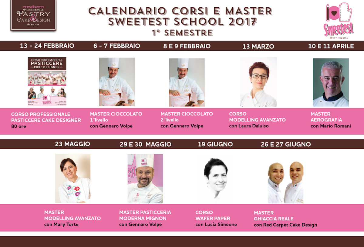 CALENDARIO CORSI 2017 sweetest