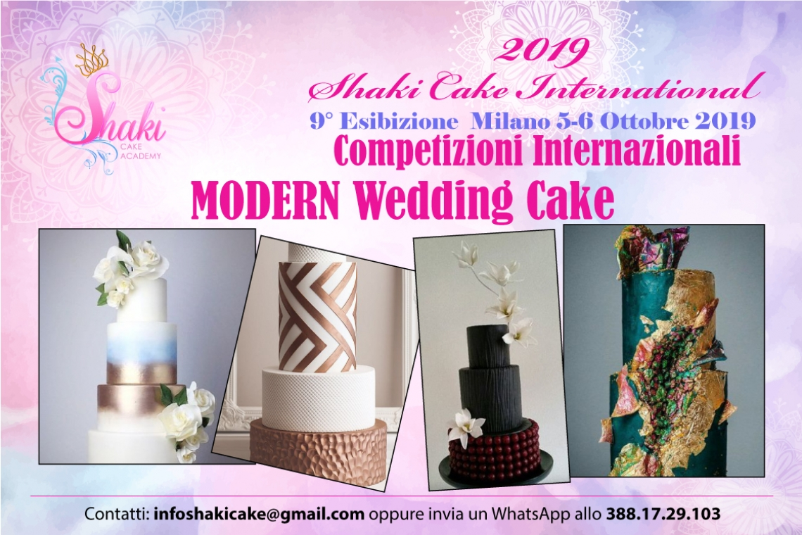 Modern Wedding Cake - Shaki Cake International