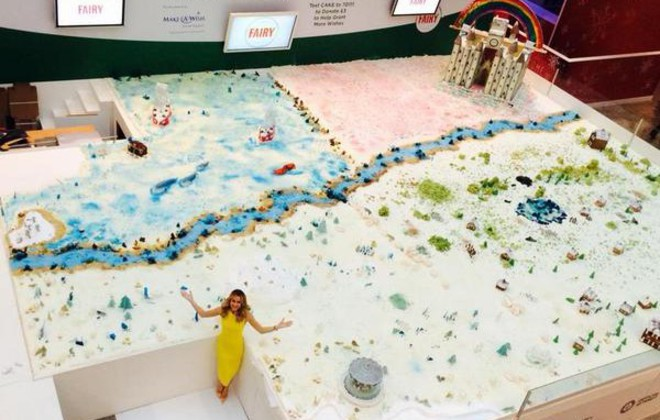 fairy guinness world record largest cake sculpture
