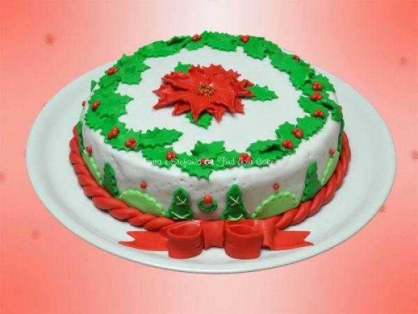 Torta Con Stella Di Natale.Tutorial Torta Con La Stella Di Natale Cake Design Italia